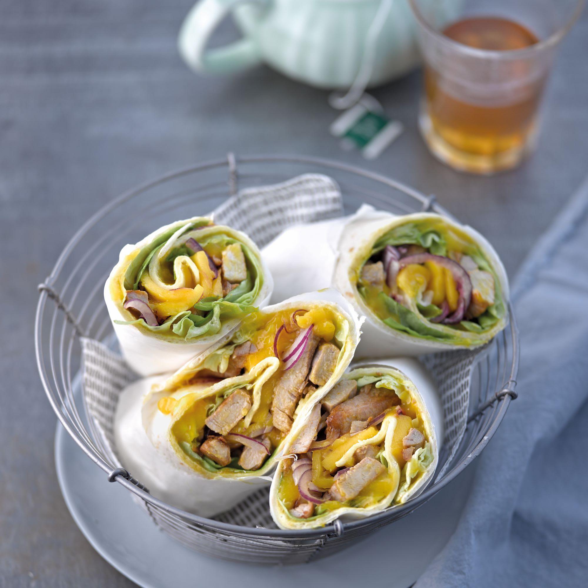 Photo de/du Wraps mangue, curry et aiguillettes de porc par WW