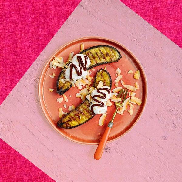 Photo de/du Bananes au barbecue à la noix de coco et au chocolat par WW