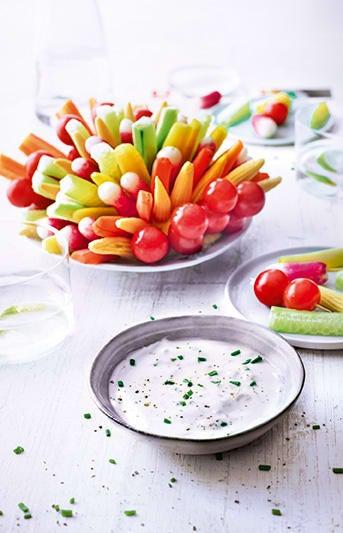 Photo de/du Hérisson de légumes croquants et son dip par WW