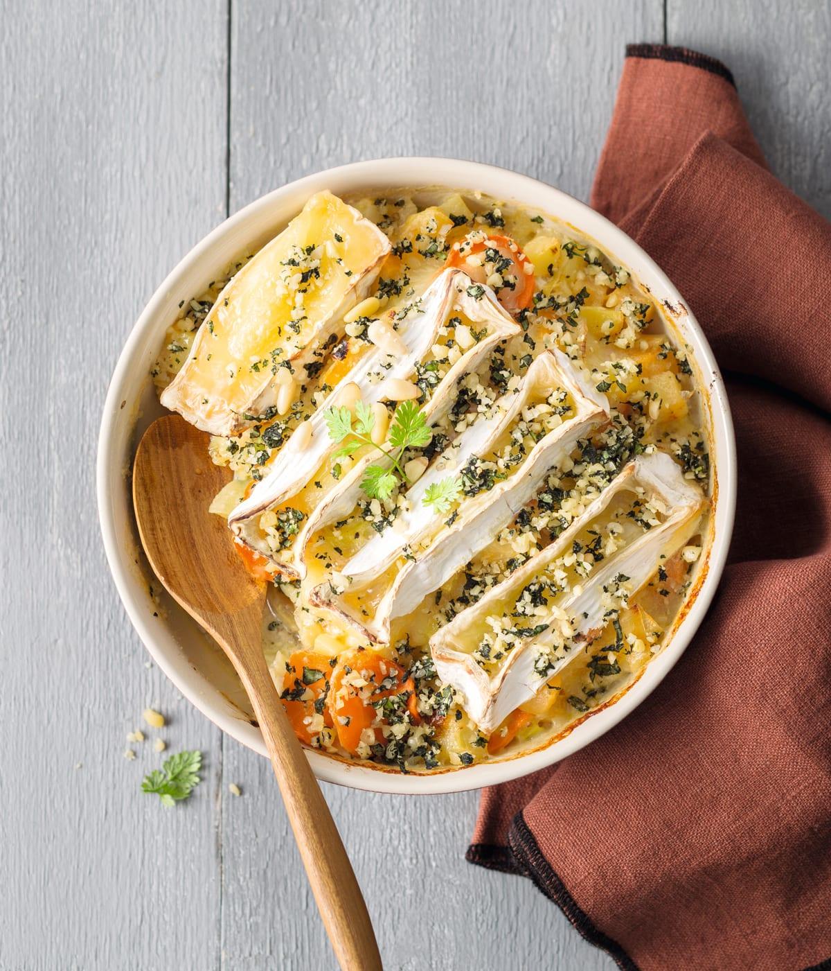 Photo de/du Légumes au camembert rôti par WW