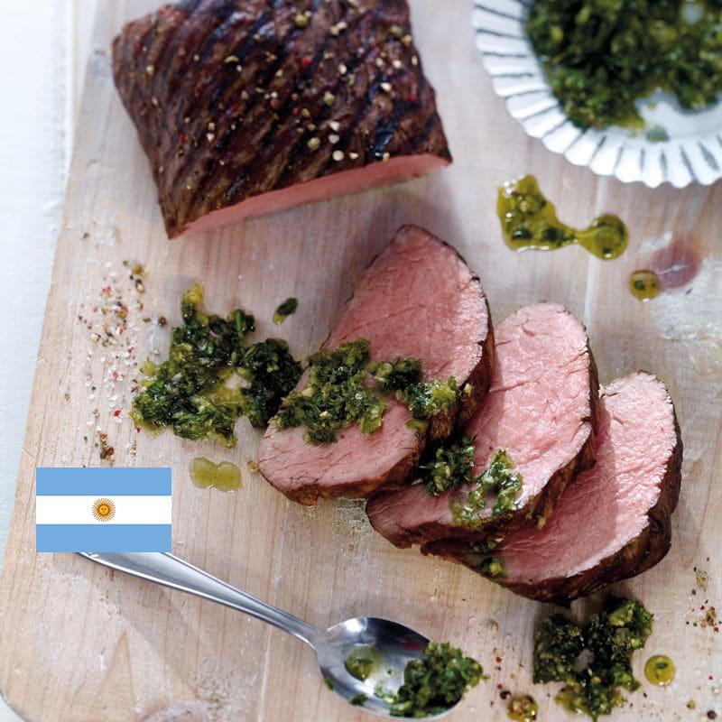 Photo de/du Filet de bœuf avec chimichurri par WW