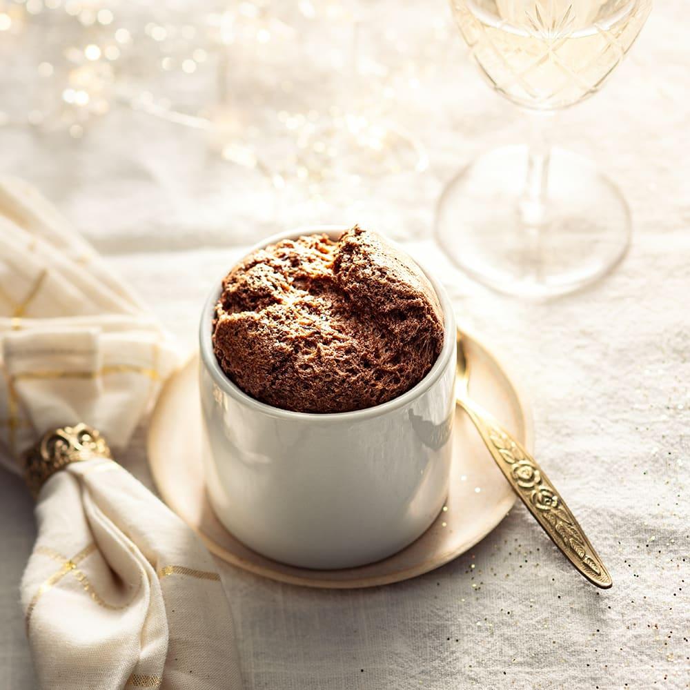Photo de/du Soufflé chocolat, raisins et whisky par WW