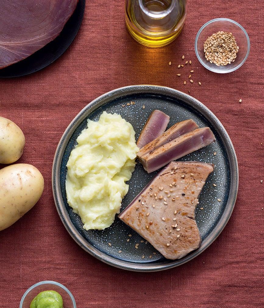 Photo de/du Thon mi-cuit et purée wazabi par WW