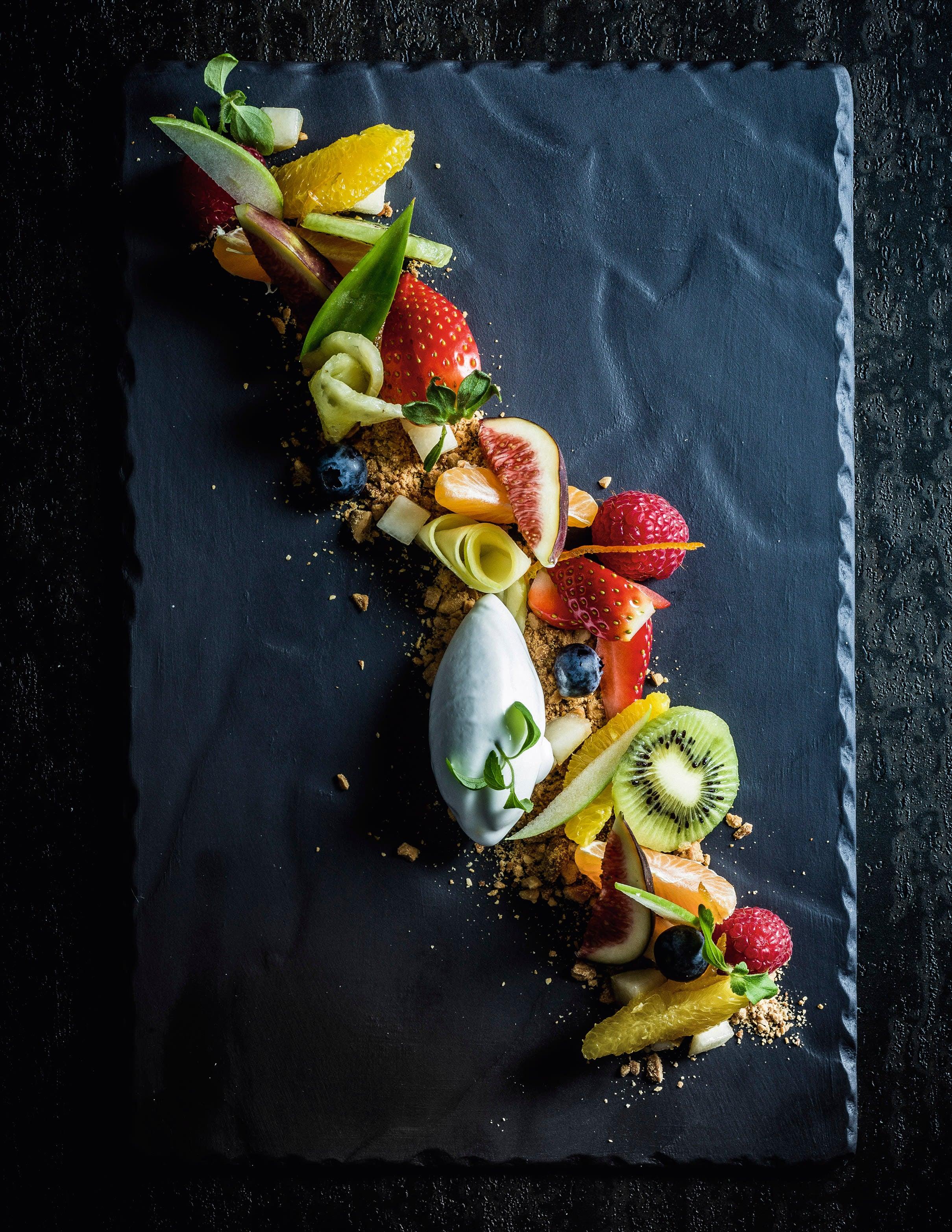 Photo de/du Salade de fruits, spéculoos et glace au yaourt par WW