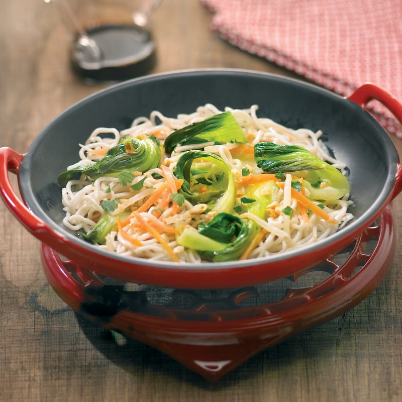 Photo de/du Nouilles chinoises aux trois légumes par WW