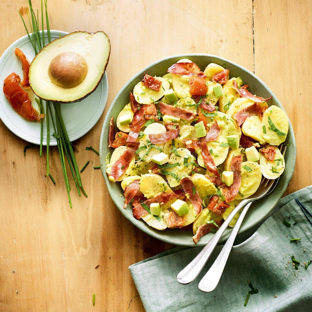 Photo de/du Salade de pommes de terre, anchois et avocat par WW