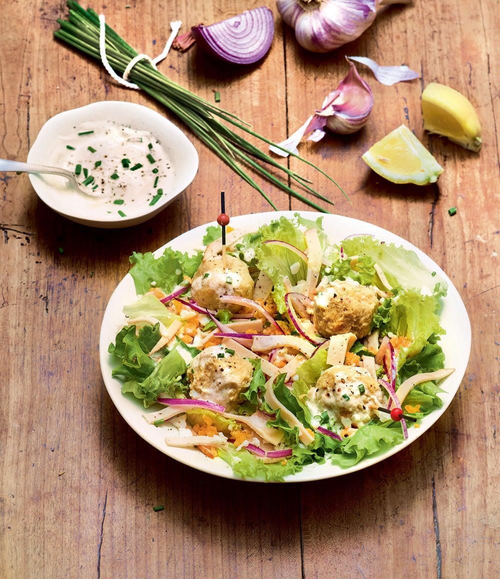 Photo de/du Salade mimosa au poulet et flageolets par WW