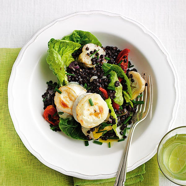 Photo de/du Salade de lentilles artichauts et fromage de chèvre par WW