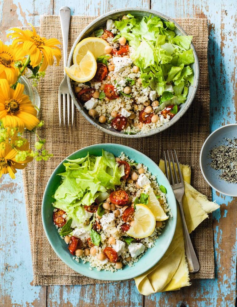 Photo de/du Salade de semoule aux tomates rôtie et a la feta par WW