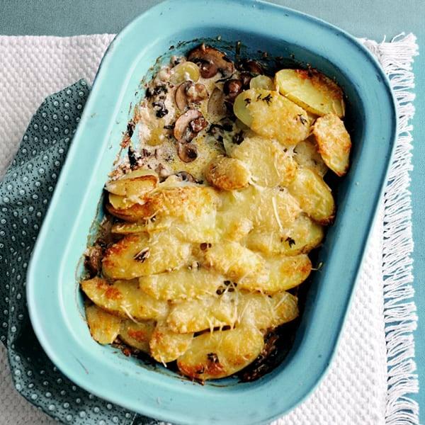 Photo de/du Gratin de pommes de terre champignons fromage par WW