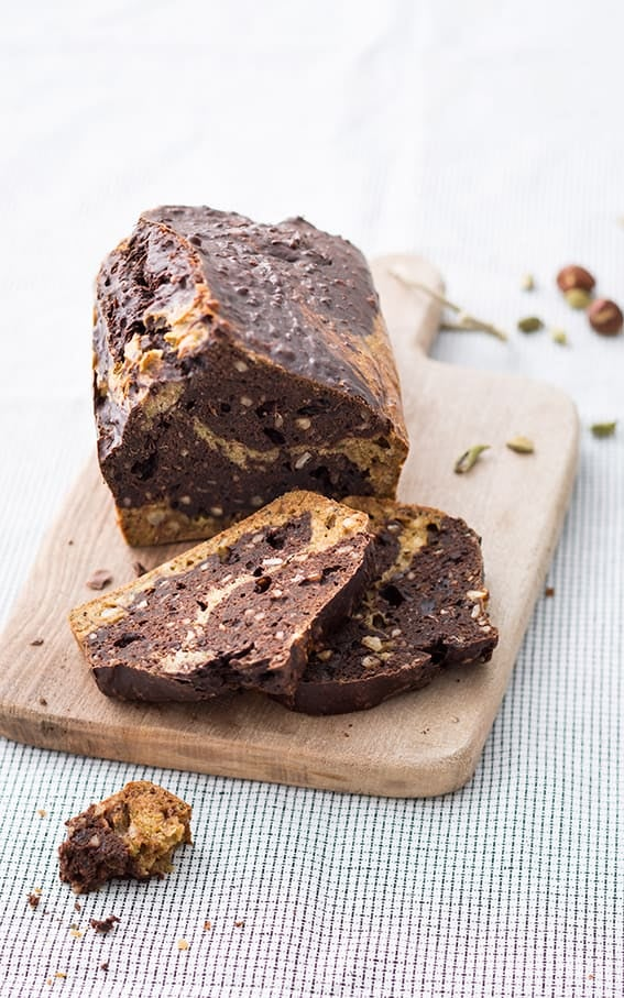 Photo de/du Gâteau marbré courgettes-chocolat par WW