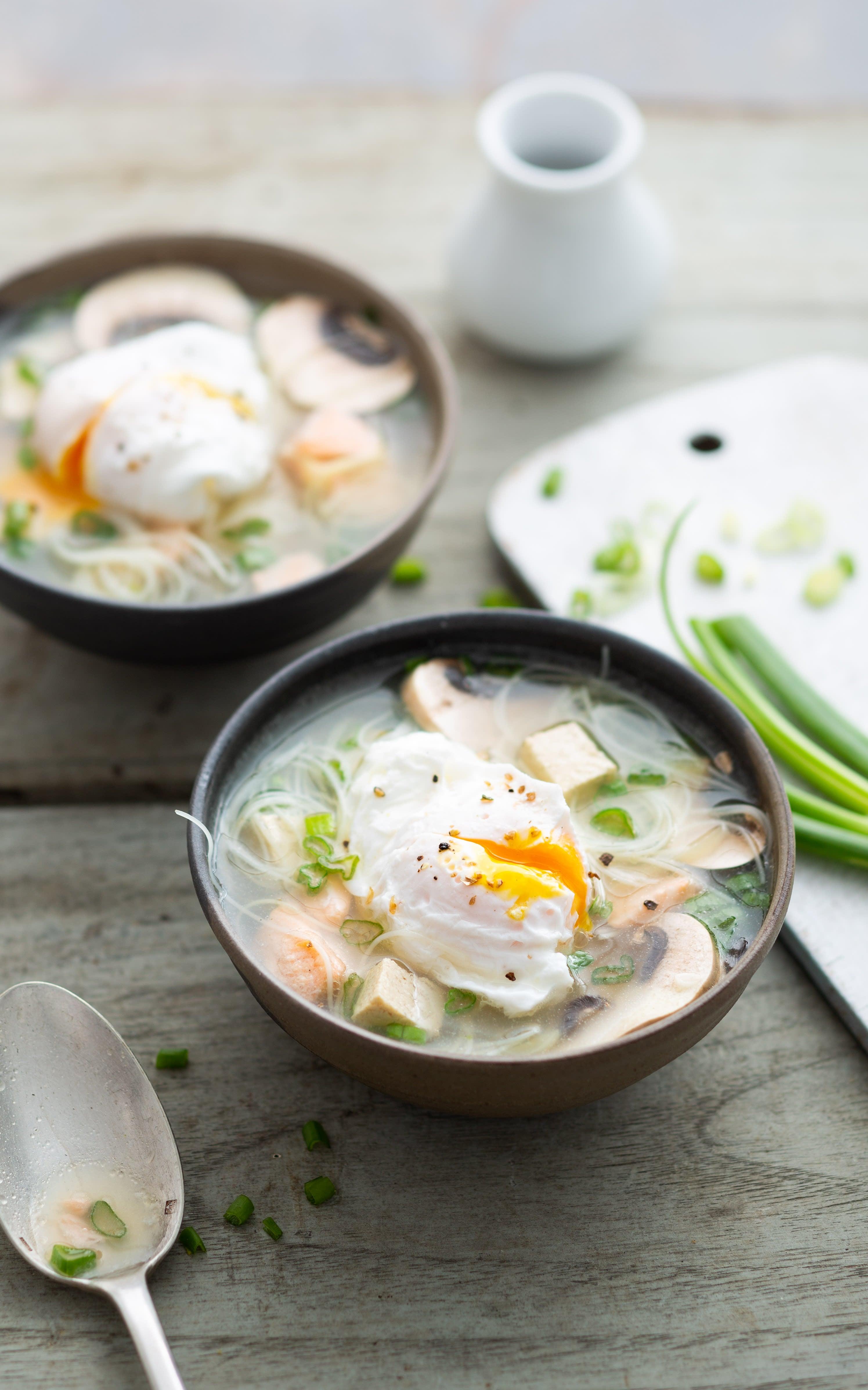Photo de/du Soupe au tofu et à l'œuf par WW