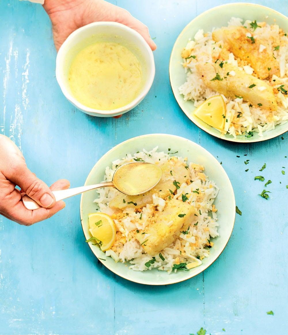 Photo de/du Poêlée d'églefin à la sauce curry façon kedgeree par WW