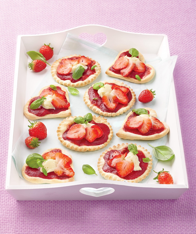 Photo de/du Pizzettes aux fraises et au chocolat blanc par WW
