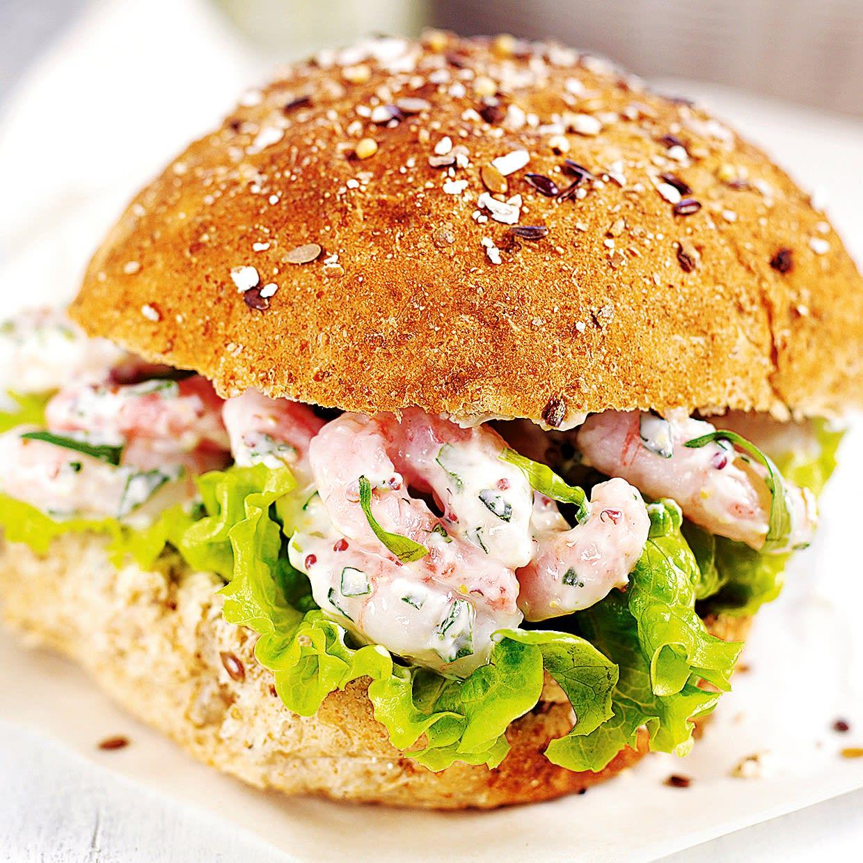Photo de/du Burger aux crevettes à la sauce mayonnaise par WW