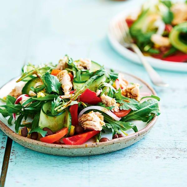 Photo de/du Salade de thon, haricots noirs et maïs par WW