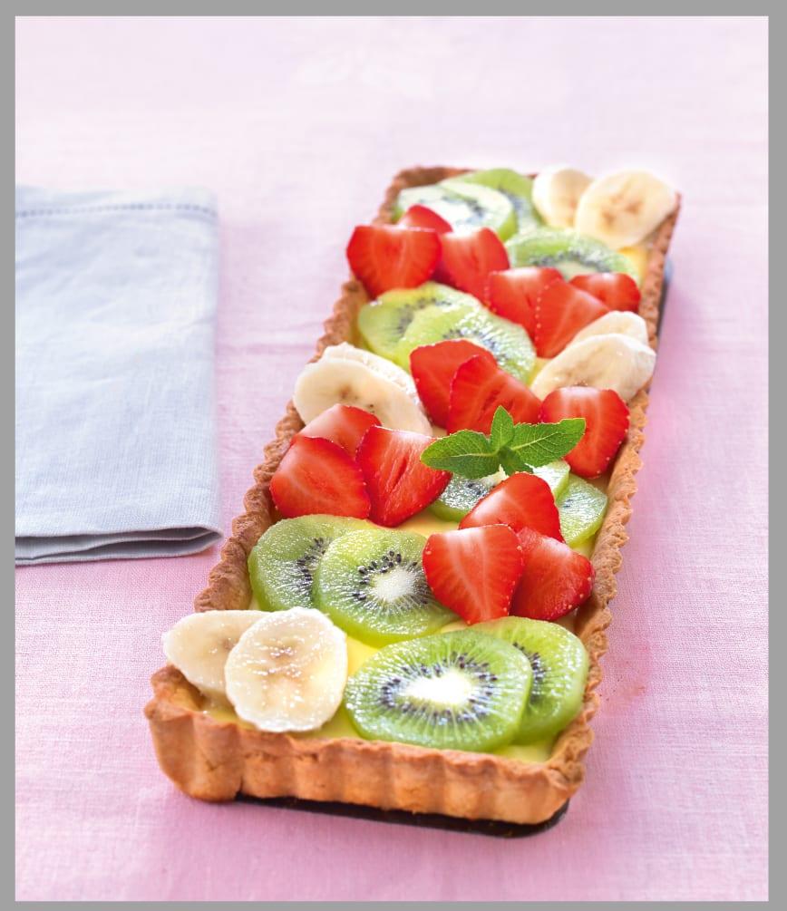 Photo de/du Tarte chic aux fraises, aux bananes et aux kiwis par WW