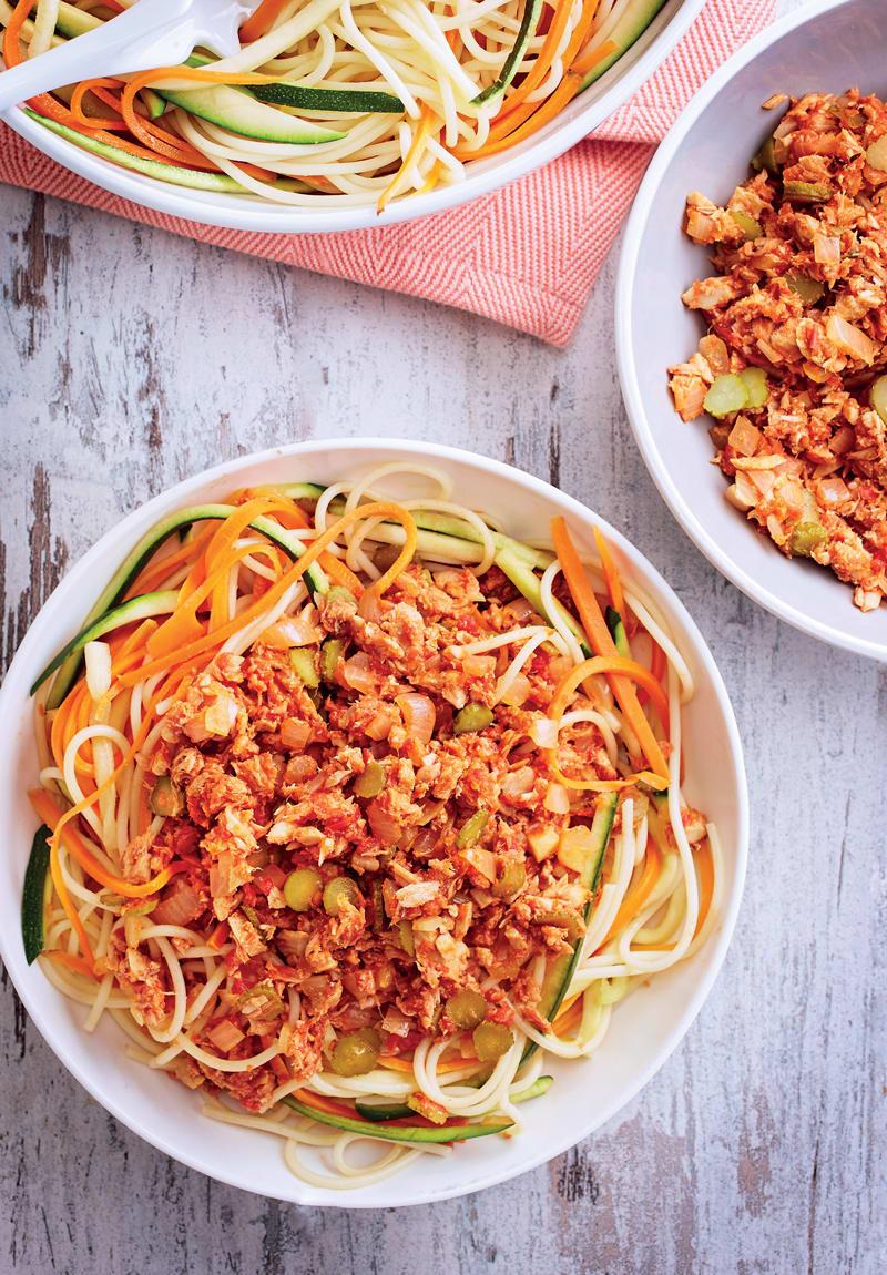 Photo de/du Spaghettis au thon comme une bolognaise par WW