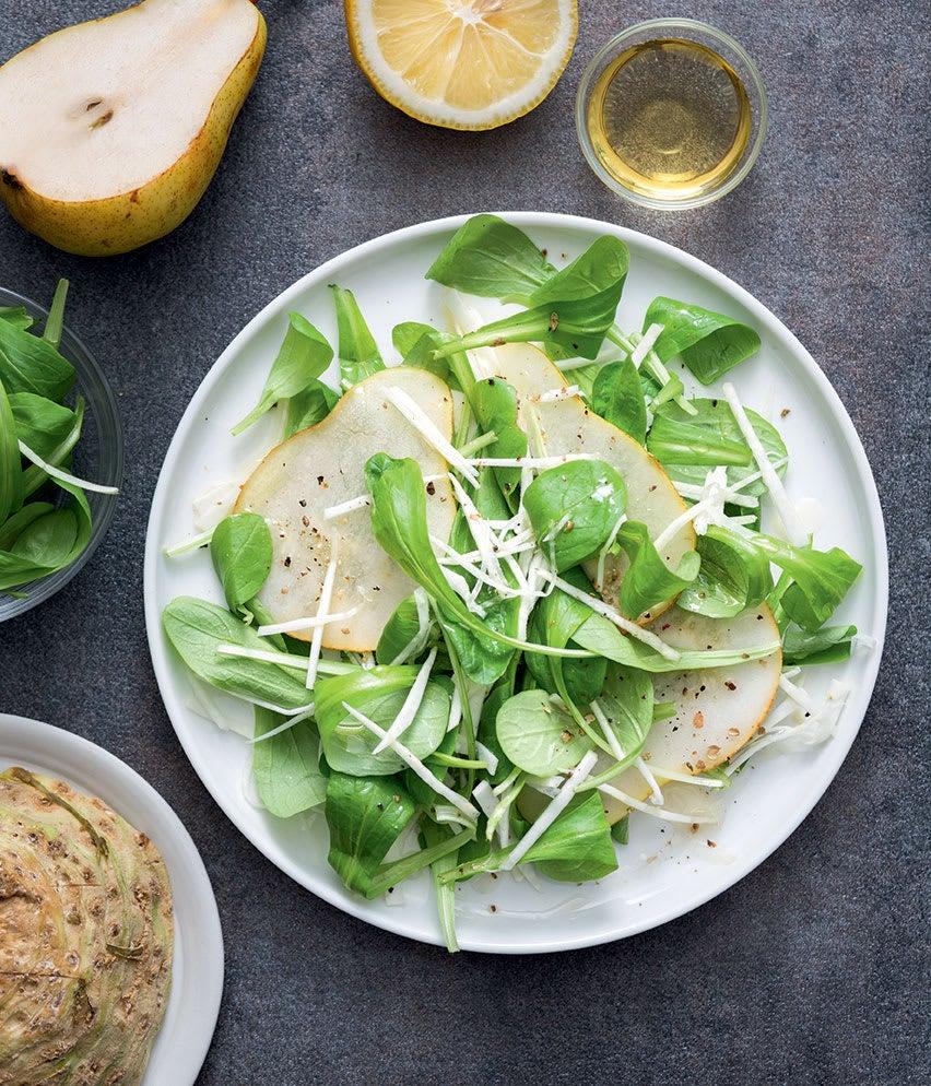Photo de/du Salade de mâche, céleri et poires par WW