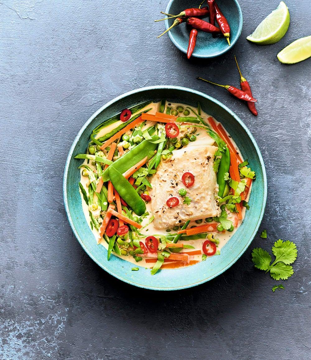Photo de/du Curry thaï de poisson au lait de coco par WW