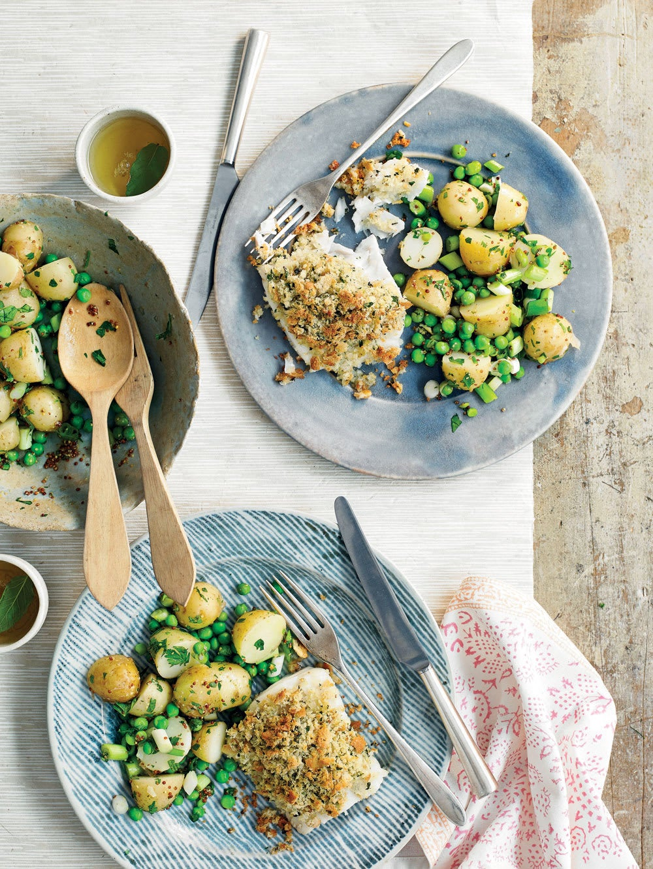 Photo de/du Poisson pané et salade de pommes de terre chaudes par WW