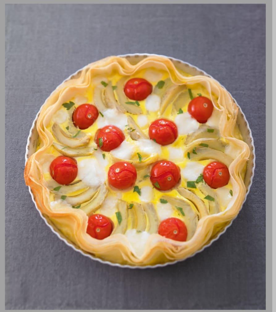 Photo de/du Tarte aux artichauts et aux tomates cerises par WW