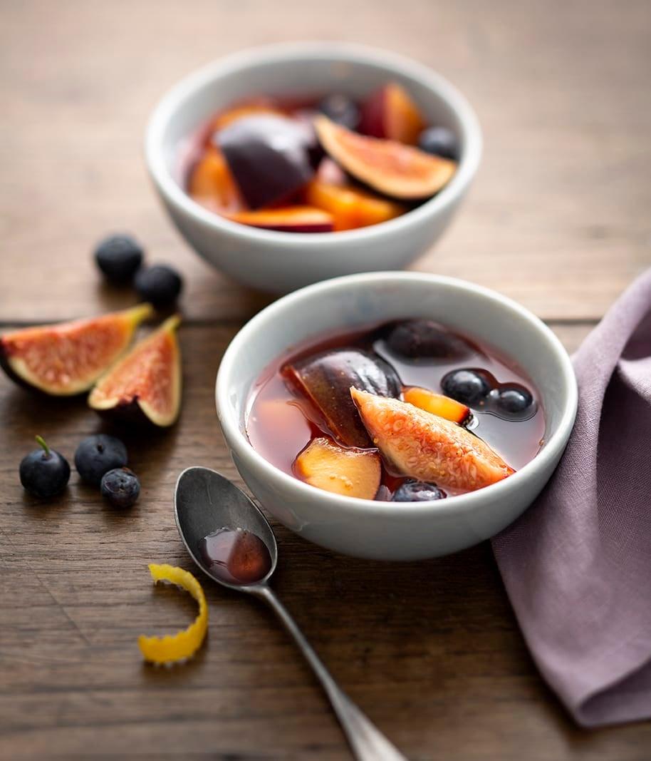 Photo de/du Salade aux figues, prunes et myrtilles par WW