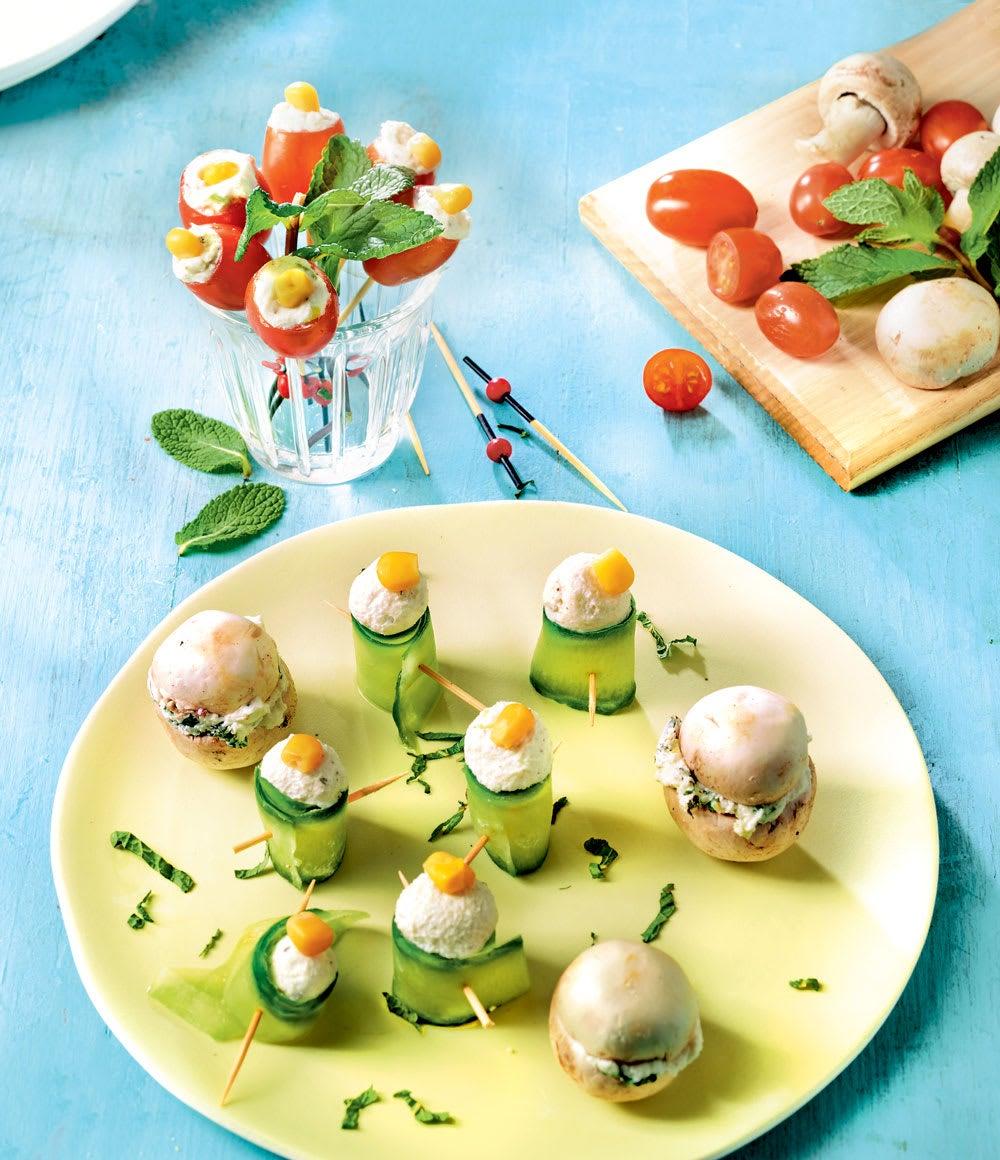 Photo de/du Fleurs et macarons au fromage frais par WW