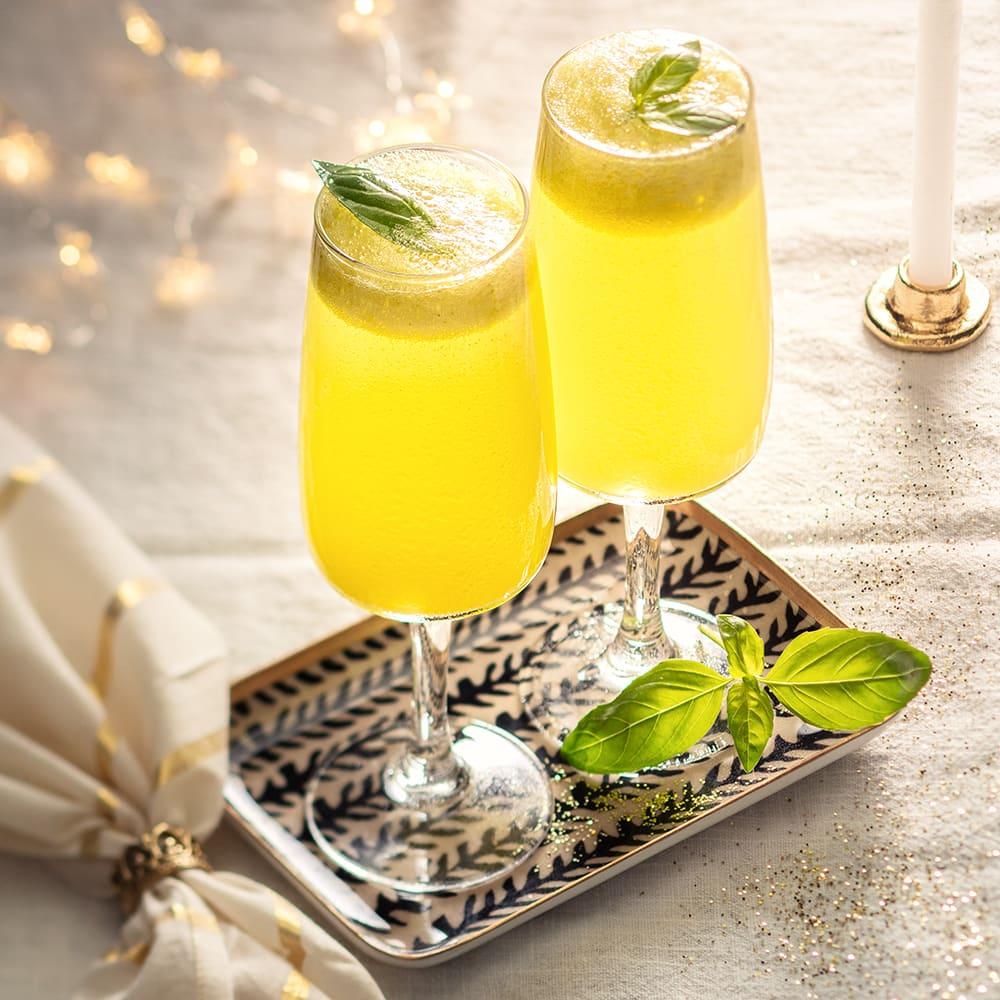 Photo de/du Cocktail sans alcool ananas-basilic par WW