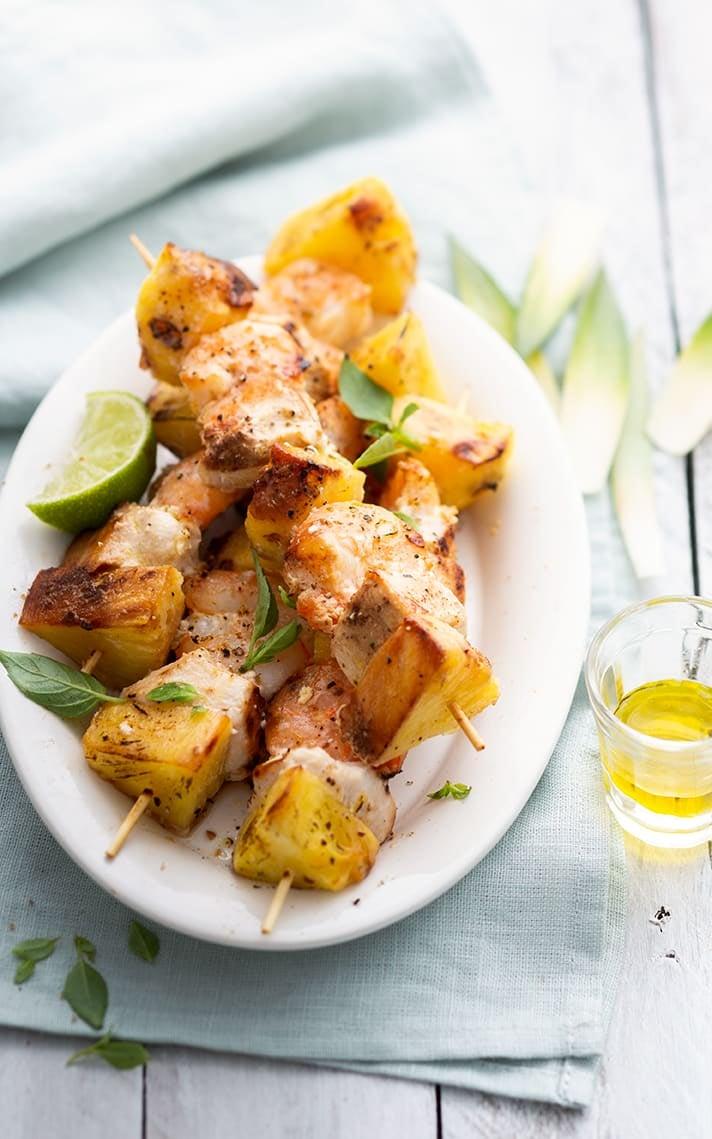 Photo de/du Brochette de dinde à l'ananas par WW