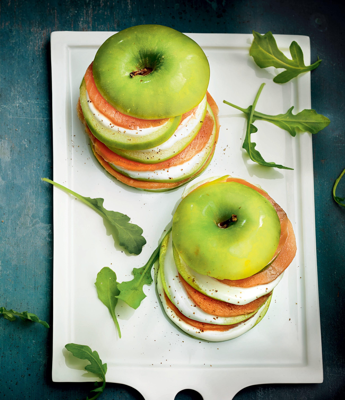 Photo de/du Millefeuille de pommes, truite et fromage de chèvre par WW