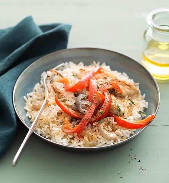Photo de/du Sauté de dinde au riz et paprika par WW
