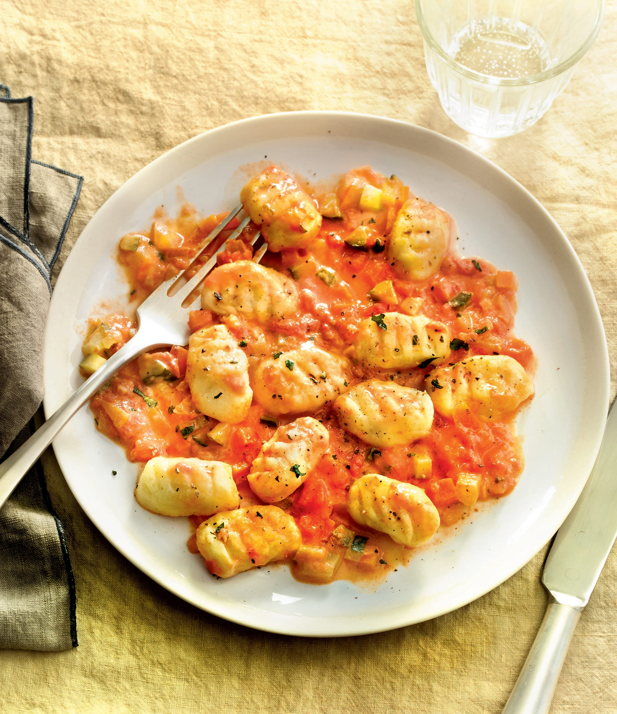 Photo de/du Gnocchi et sauce aux légumes par WW