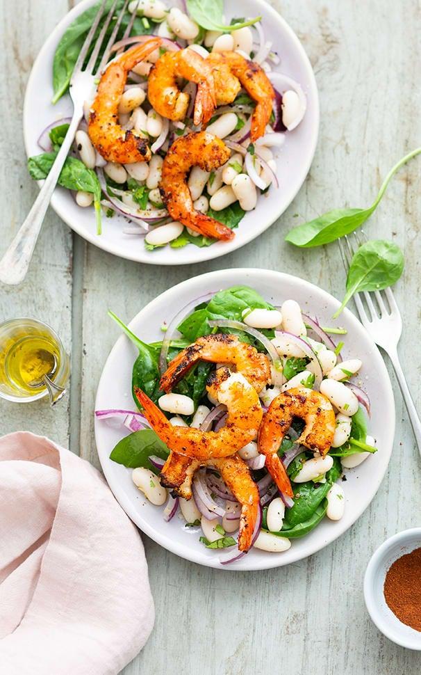 Photo de/du Salade aux crevettes par WW