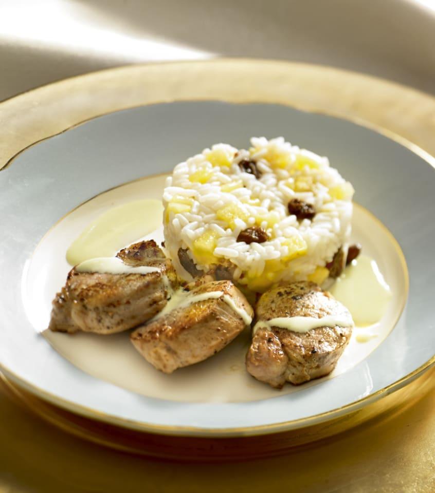 Photo de/du Médaillon de porc, riz Madras et crème coco par WW