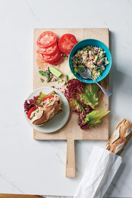 Photo de/du Sandwichs de saumon, concombre et menthe par WW