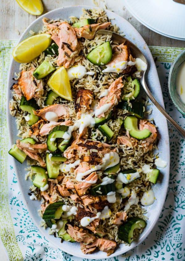 Photo de/du Salade de riz au saumon épicé par WW