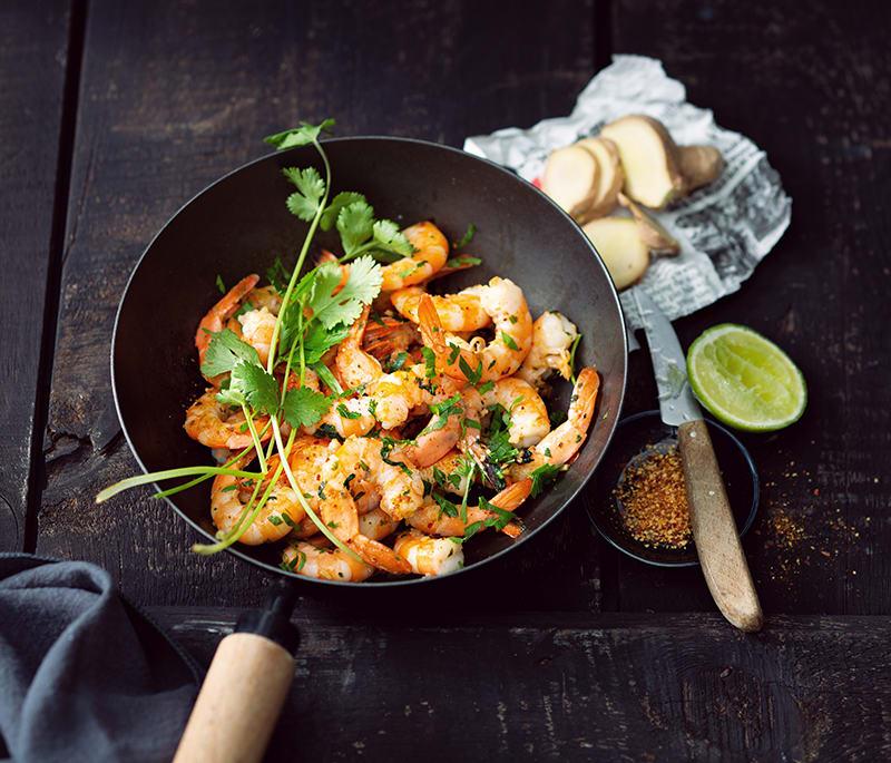 Photo de/du Poêlée de crevettes par WW