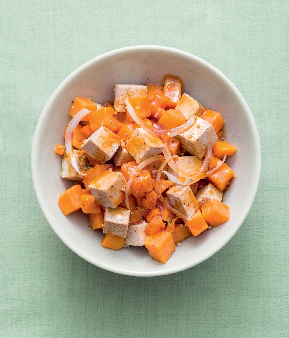 Photo de/du Salade de patates douces au tofu par WW