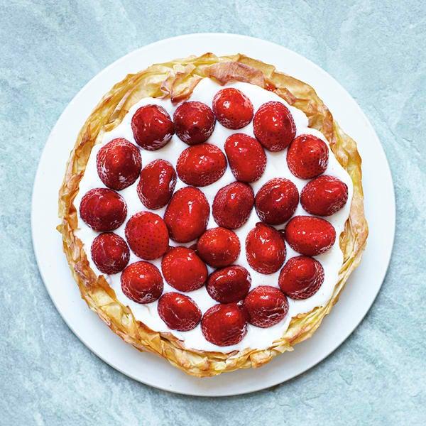 Photo de/du Tarte aux fraises et fromage frais par WW