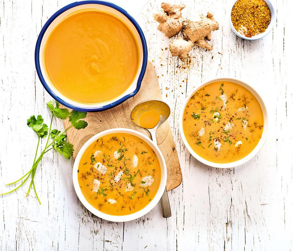 Photo de/du Crémeux de potiron au curry vert par WW