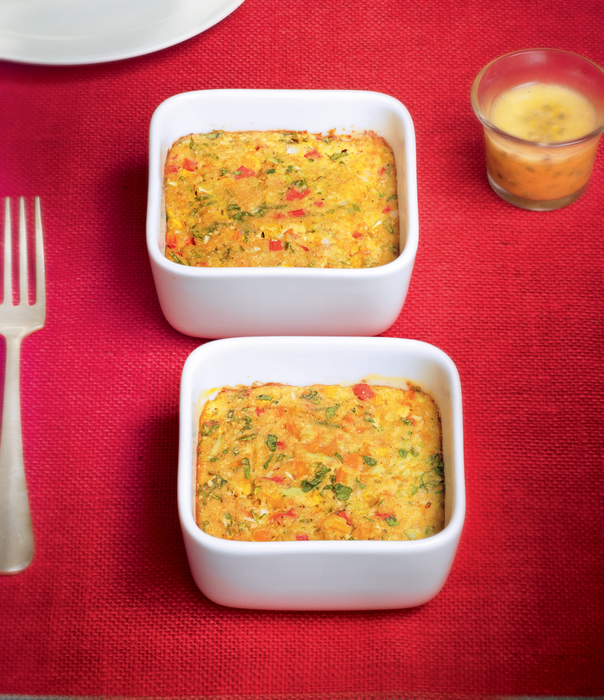 Photo de/du Flan au crabe, aux poivrons et au curry par WW