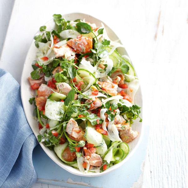 Photo de/du Salade d'été au saumon, fenouil et cresson par WW