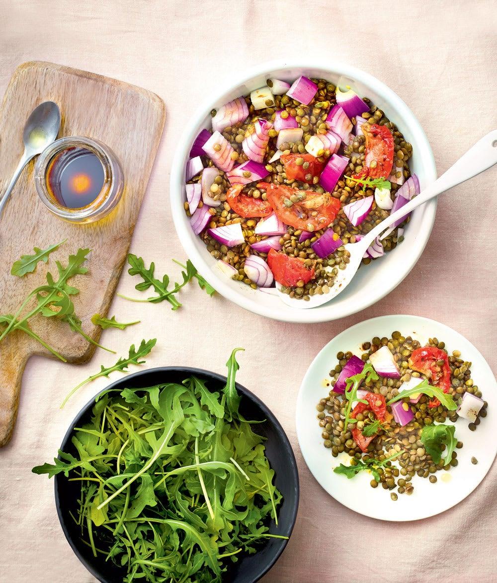 Photo de/du Salade de lentilles et tomates confites par WW