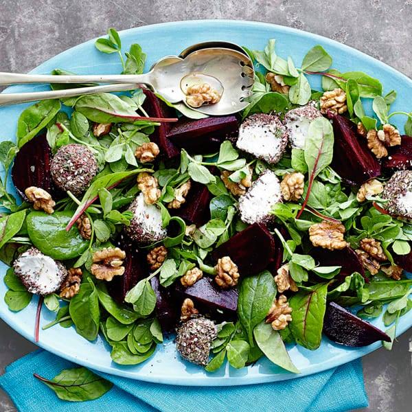 Photo de/du Salade de betterave, fromage aux herbes et aux noix par WW