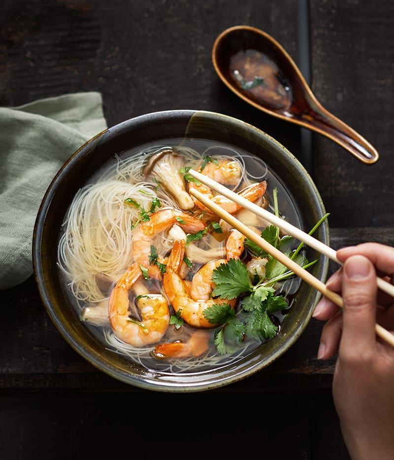Photo de/du Soupe de crevettes thaïes par WW