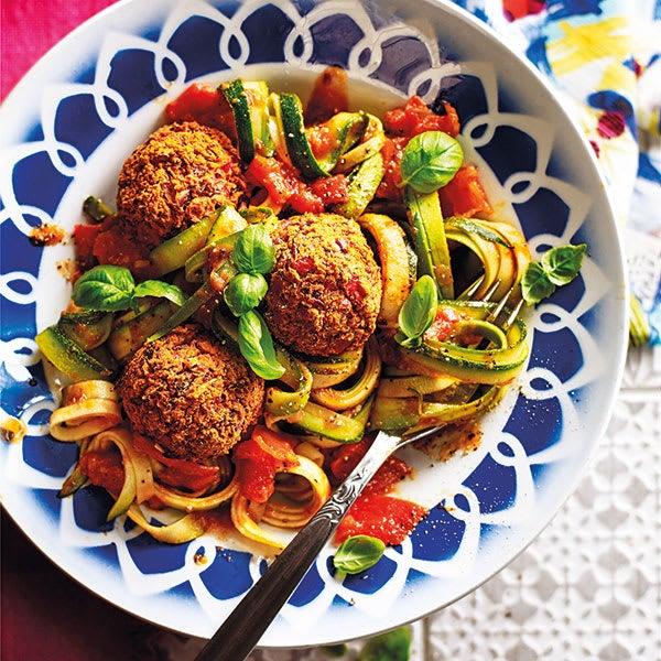 Photo de/du Spaghettis de courgettes et boulettes aux légumes par WW