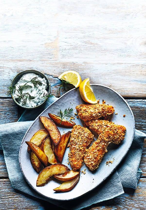 Photo de/du Bâtonnets de saumon panés et frites par WW