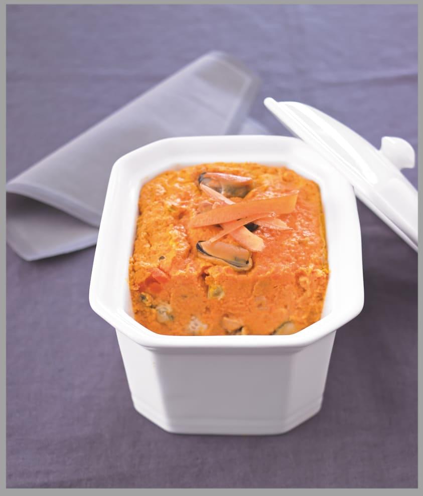 Photo de/du Terrine de moules aux carottes et au curry par WW