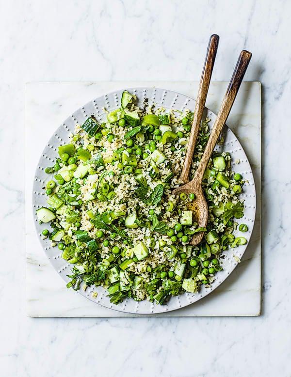 Photo de/du Salade de riz aux herbes par WW
